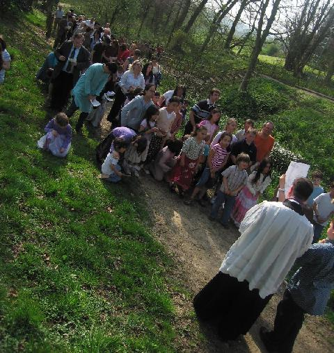 The outdoor Stations of the Cross